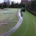 Sand Filled Pitch Maintenance in Balsham 5