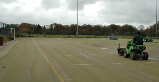 Hockey Surface Maintenance in Abram
