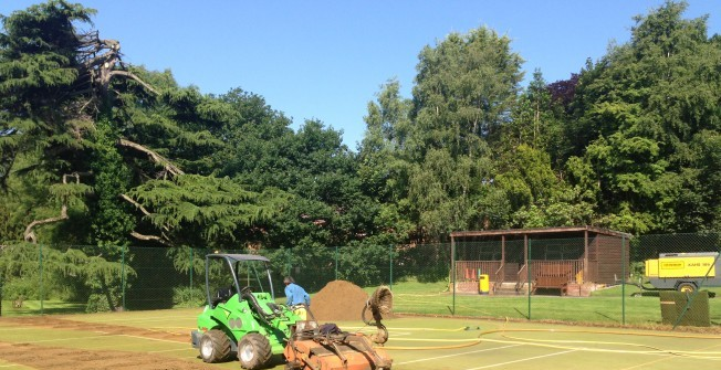Maintaining Hockey Pitches in Cwmfelin Boeth