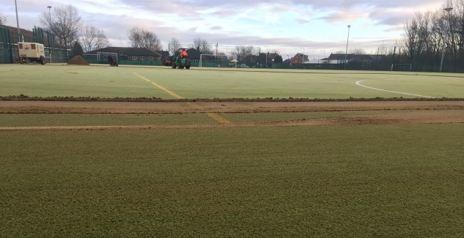 Sand Filled Pitch Maintenance in Moyallan