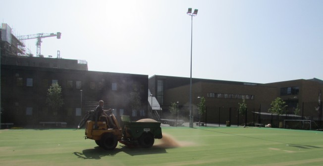Astroturf MUGA Pitch Maintenance in West Chisenbury
