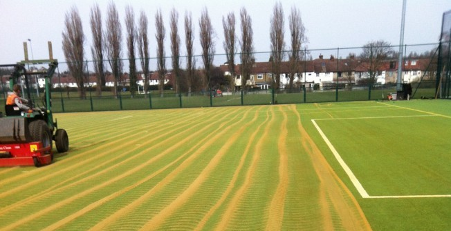 Synthetic Pitch Infill Cleaning in Aisby