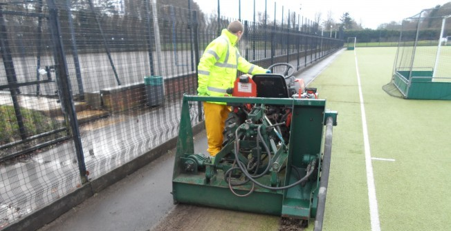 Football Pitch Maintenance in Old Neuadd