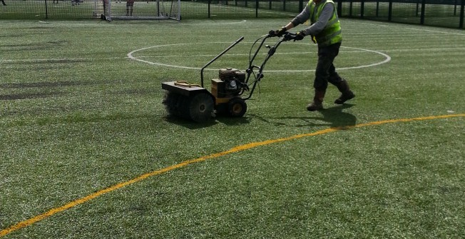 3G Pitch Surface Maintenance in Rhymney/Rhymni