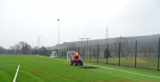 Sports Pitch Cleaners in Rhymney/Rhymni